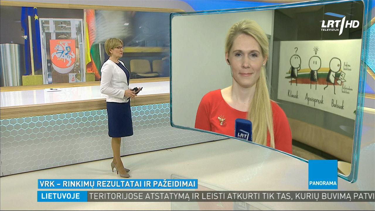 [Nuotrauka] LRT. Panorama, 2019 m. savivaldybių tarybų rinkimų laidos stop kadras
